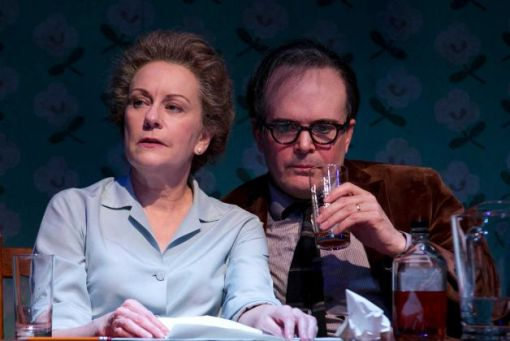 """Mary Beth Fisher and Jefferson Mays play the poets Elizabeth Bishop and Robert Lowell in the new Sarah Ruhl play """"Dear Elizabeth"""" at Yale Repertory Theatre in New Haven through Dec. 22. Photo: Contributed Photo / Connecticut Post Contributed"""