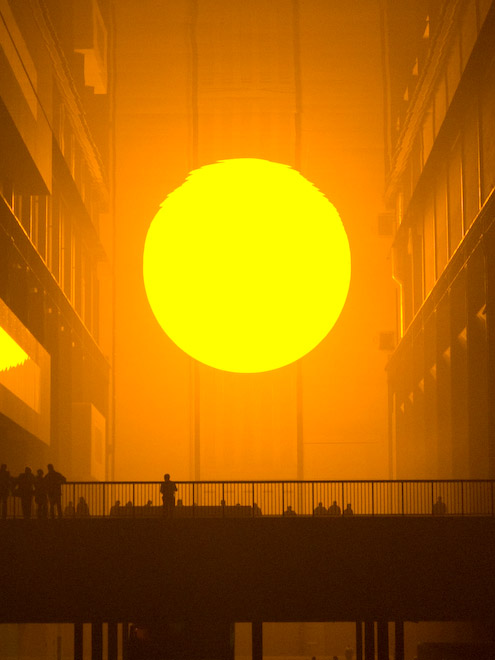 """Weather"" Olafur Eliasson's installation at the Tate Modern"