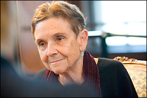 Poet Adrienne Rich (Staff photo Kris Snibbe/Harvard News Office)