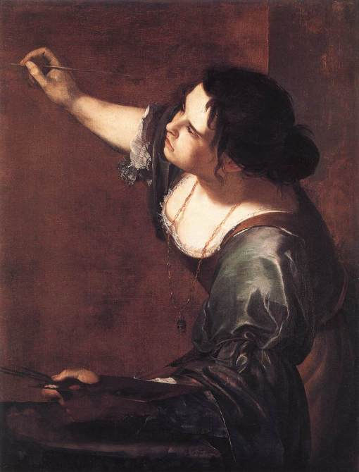 Artemisia Gentileschi. Her Self-Portrait as the Allegory of Painting_selfport